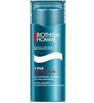 BIOTHERM Homme T-Pur Anti Oil & Shine mattosító gél hidratáló hatással